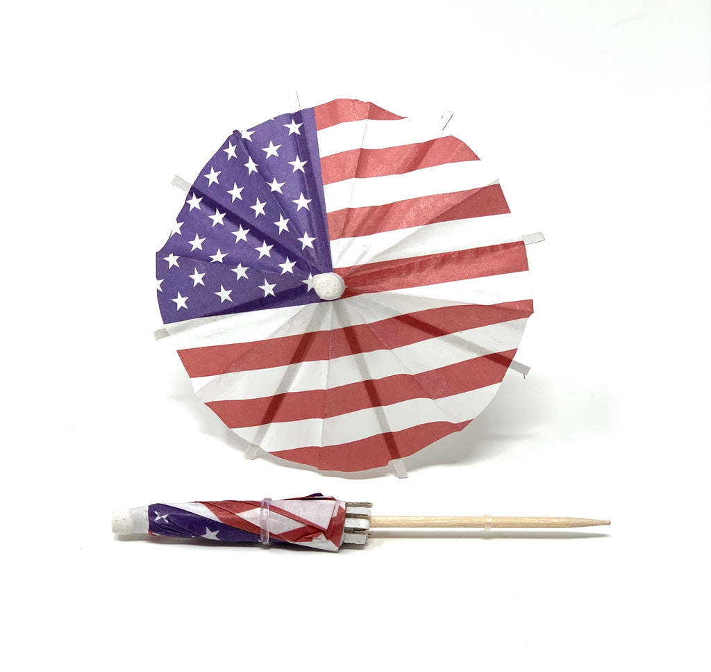 American Flag Cocktail Umbrella - The Tiny Umbrella