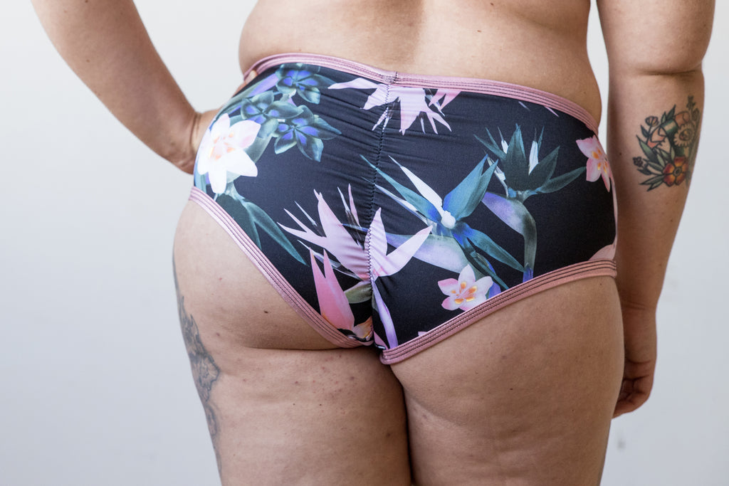 Dark Tropics High Rise Ultra Booty Briefs