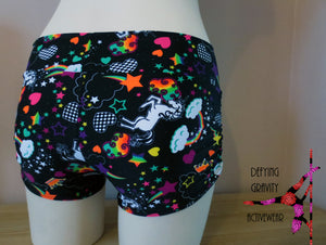 Unicorn Side Scrunch Shorts