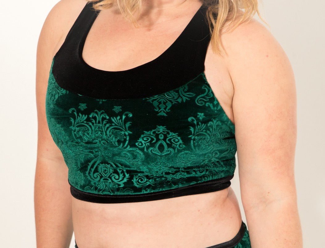 Embossed Velvet Brooke Bra