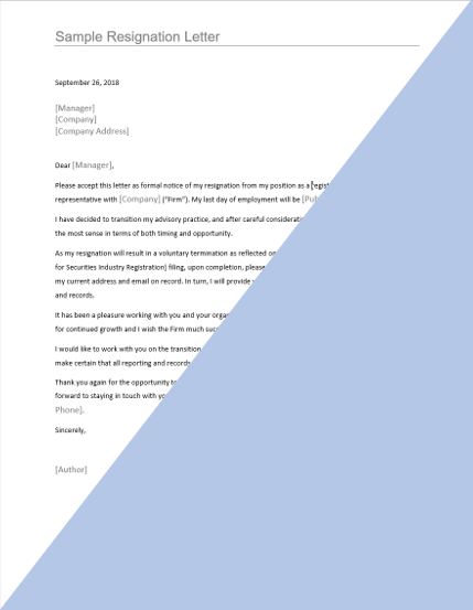 Broker Resignation Letter Template on personal reasons, simple sample, sample teacher, for kappa, two weeks notice,