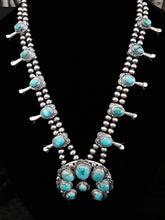 "Jewelry - J48 Sierra Nevada Turquoise Squash Blossom 32"" Long w/Matching Earrings"