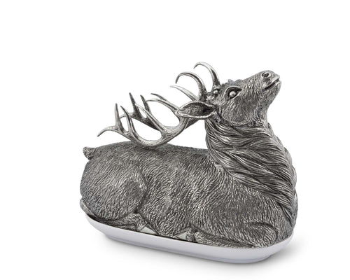 Gift - PEWTER STAG BUTTER DISH