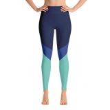 Cool Tri-Tone Yoga Leggings