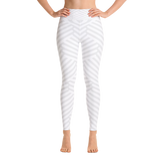 The White Striped Yoga Leggings