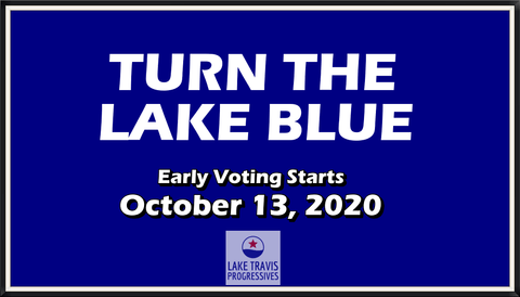 Turn The Lake Blue - 2020 Election Sign