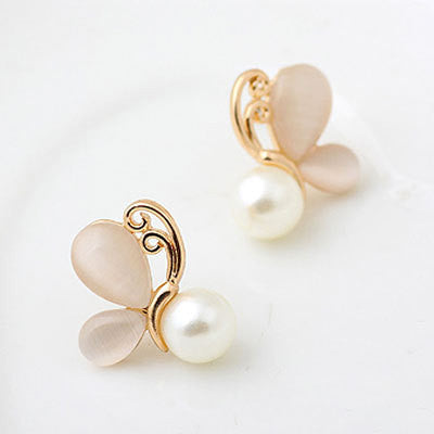 Gold Opal Earrings fashion Simulated Pearl - Ready Set GO Sports sporting goods