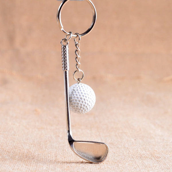 Golf ball key chain top grade metal Keychain Car Key Chain Key Ring