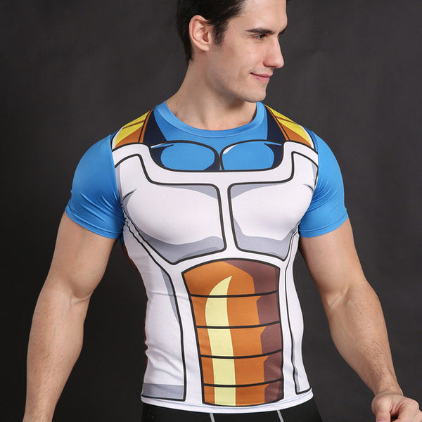 Vegeta Shirt Dragon Ball Z t shirt Cosplay Top Armor Anime - Ready Set GO Sports sporting goods