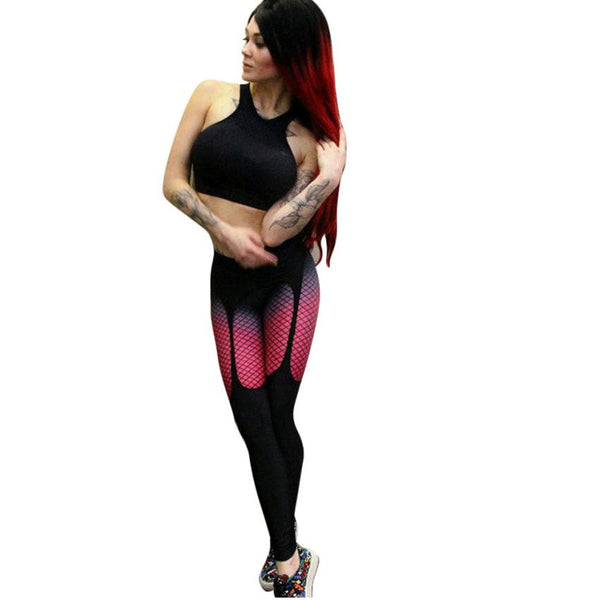 High Waist Workout Leggings Slim Printed Skinny Exercise