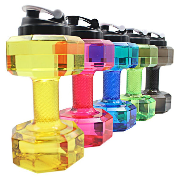 2.5L Dumbbells Shaped Plastic Big Large Capacity Gym Sports Water Bottle - Ready Set GO Sports sporting goods