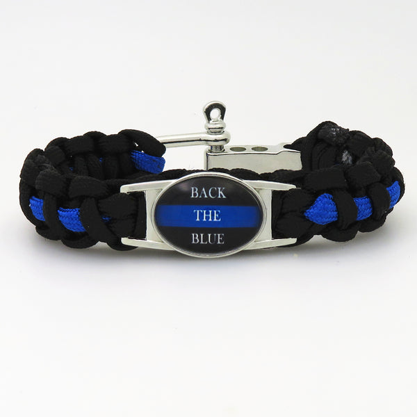 POLICE MOM GRANDMA BACK THE BLUE POLICE LIVES MATTER Paracord Survival sport Outdoor Bracelet for Police Jewelry