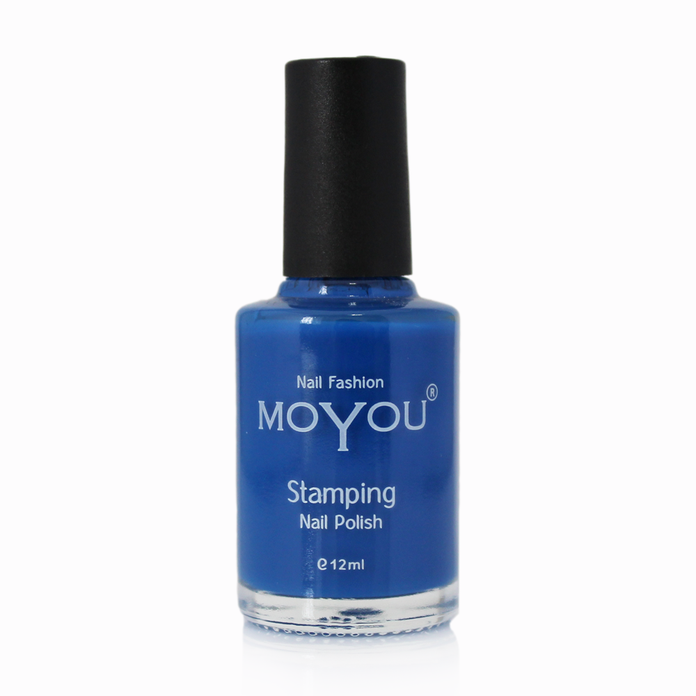 Blue Stamping Nail Polish- MoYou Nail Fashion