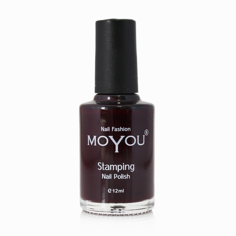 Burgundy Stamping Nail Polish- MoYou Nail Fashion