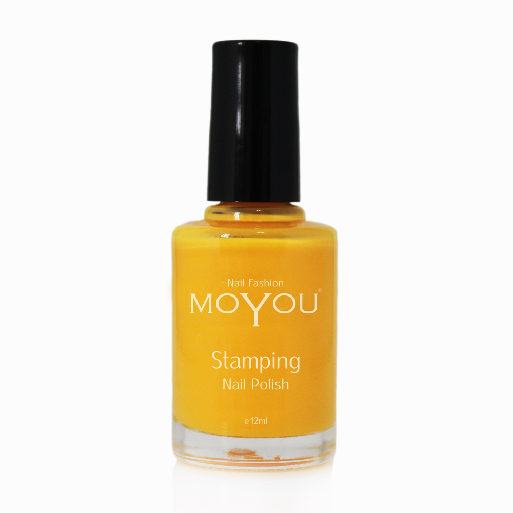California Orange Stamping Nail Polish- MoYou Nail Fashion