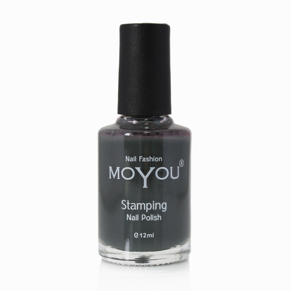Down Grey Stamping Nail Polish- MoYou Nail Fashion