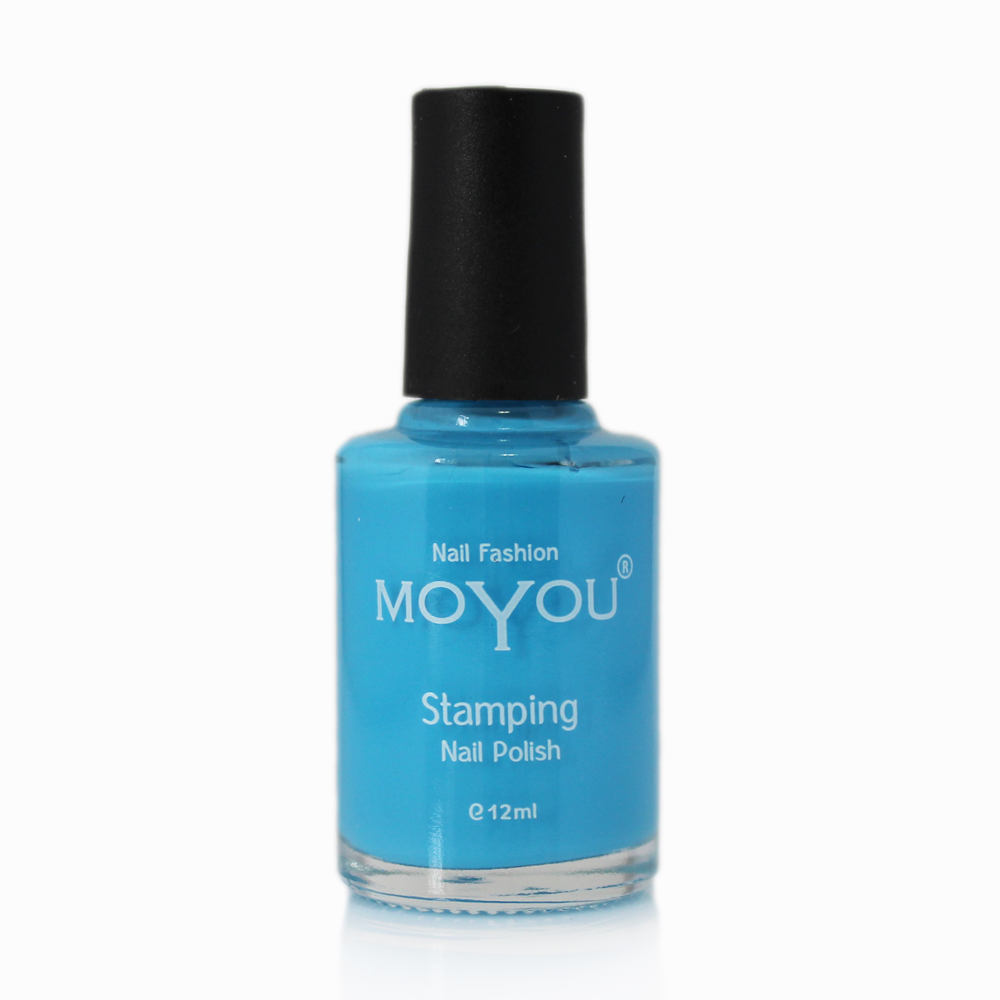 Light Blue Stamping Nail Polish- MoYou Nail Fashion