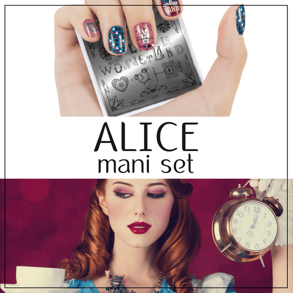 Alice In Wonderland Style Mani Set