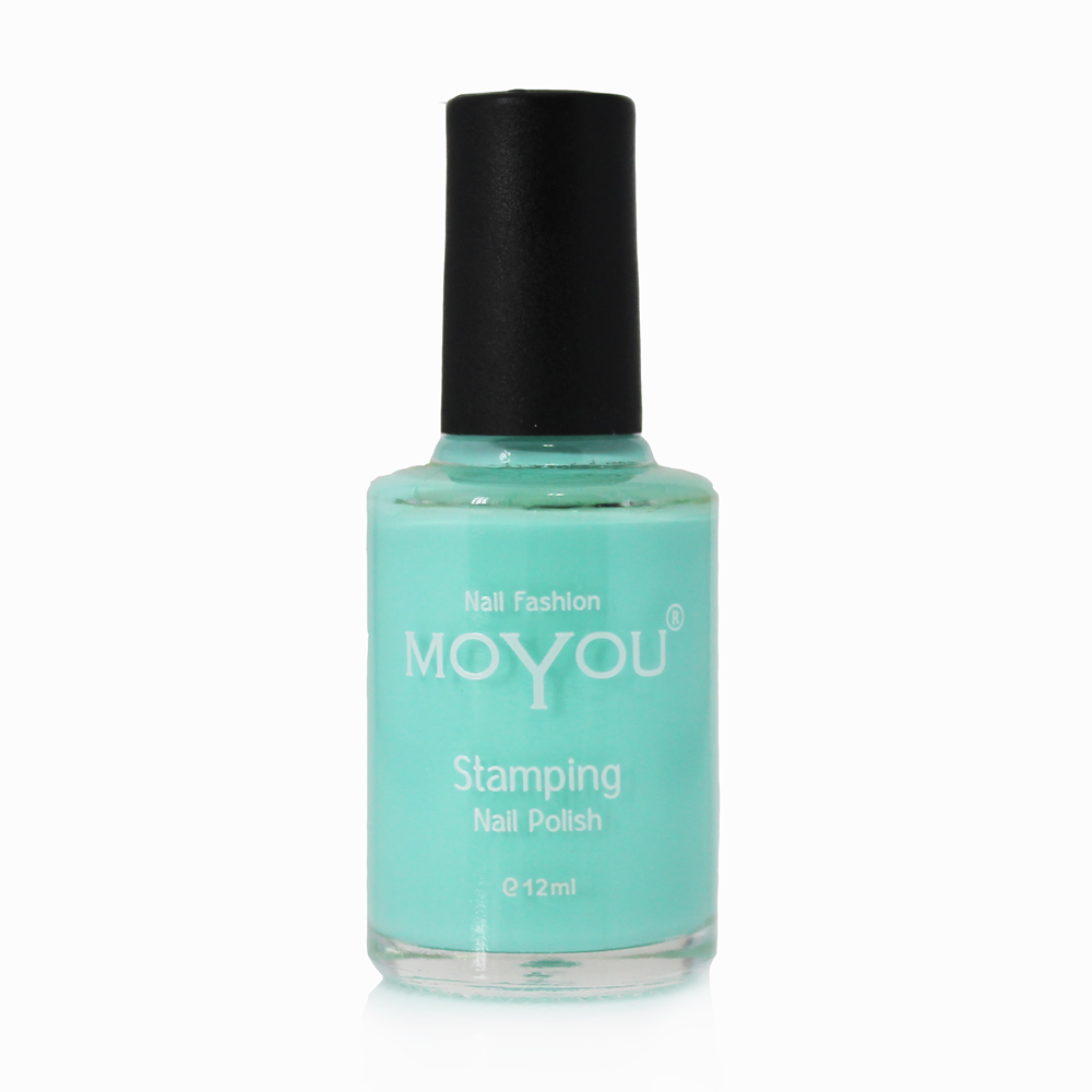 Powder Blue Stamping Nail Polish- MoYou Nail Fashion