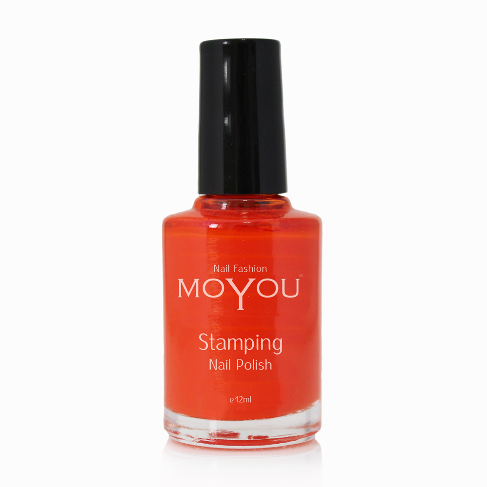 Red Stamping Nail Polish- MoYou Nail Fashion