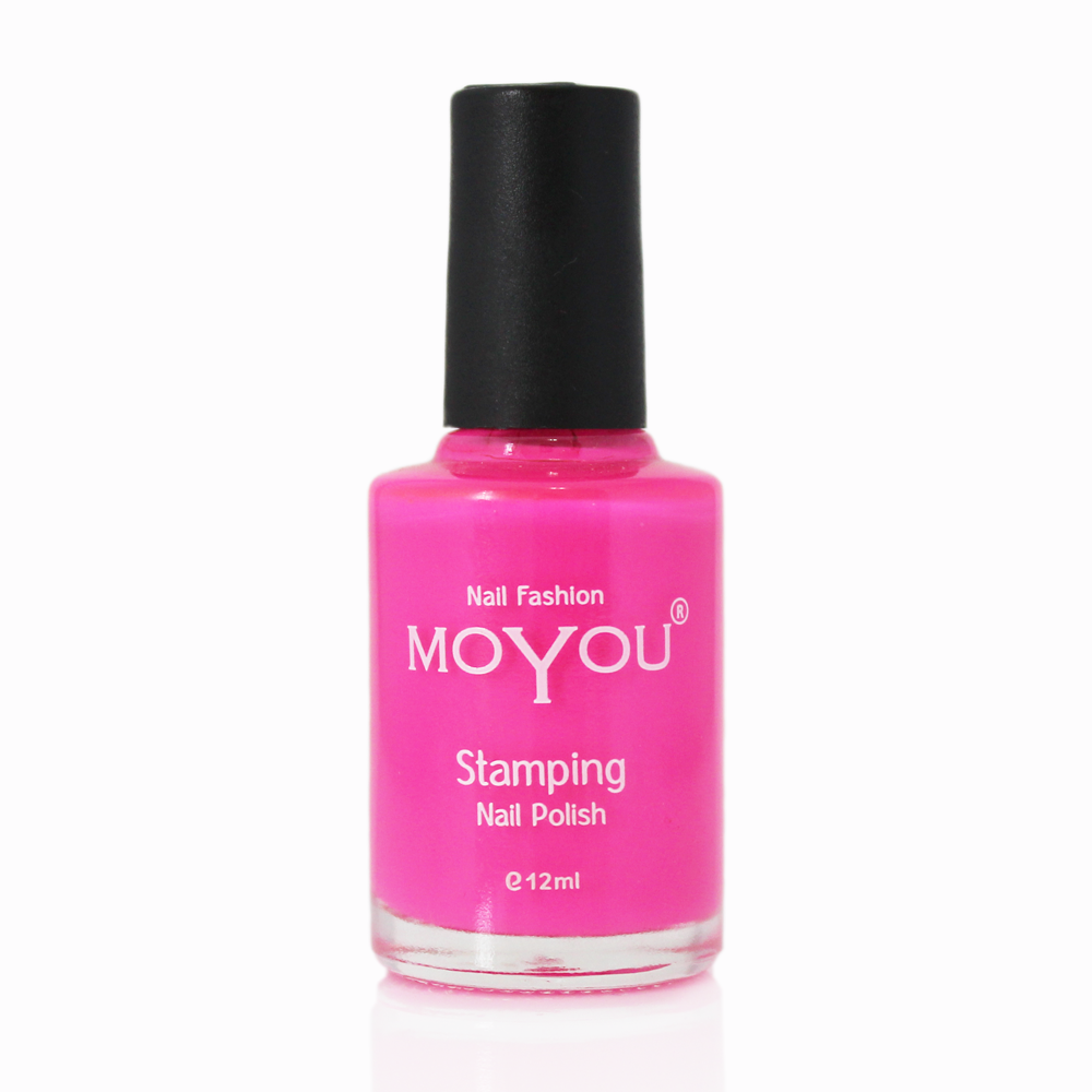 Shocking Pink Stamping Nail Polish- MoYou Nail Fashion