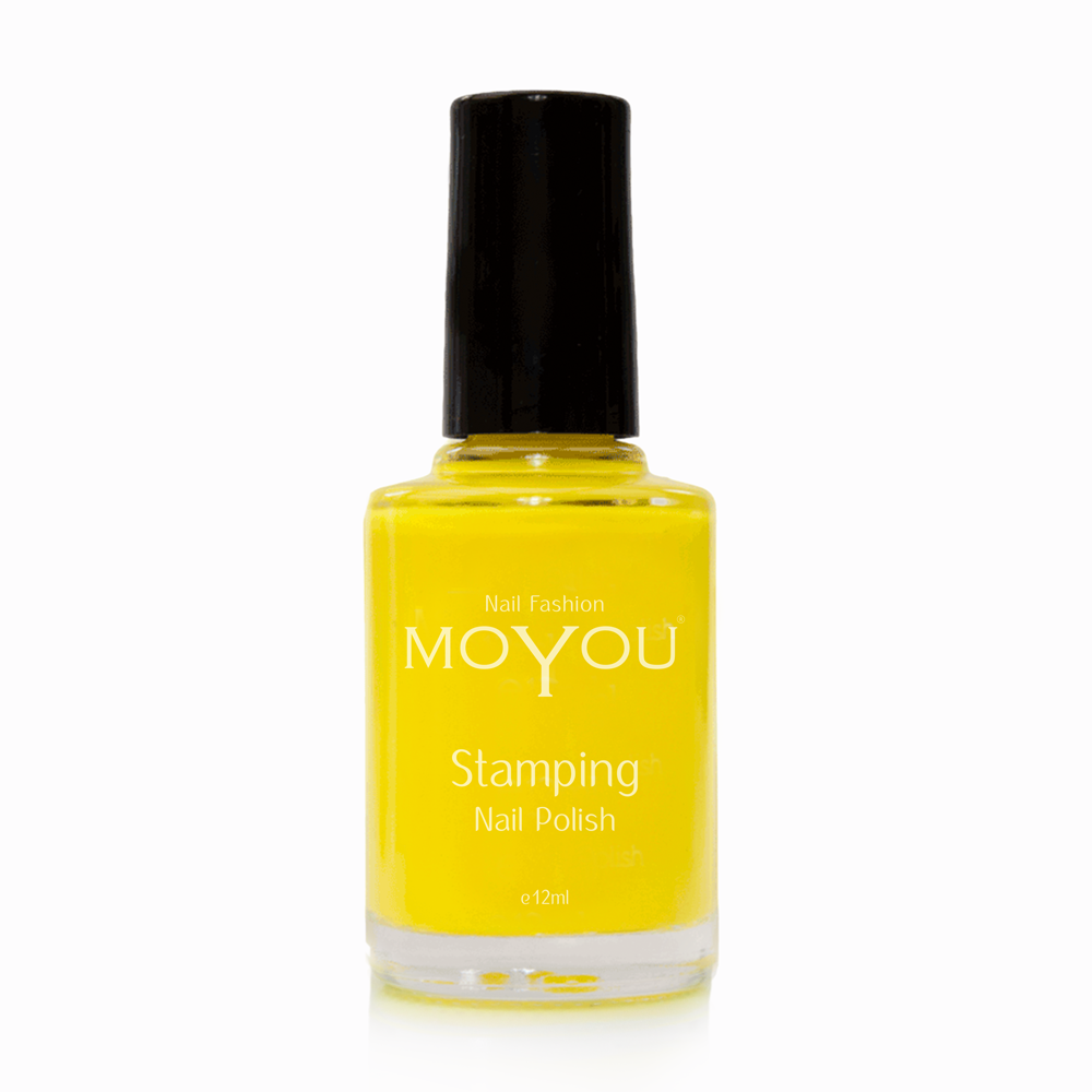 Yellow Stamping Nail Polish- MoYou Nail Fashion