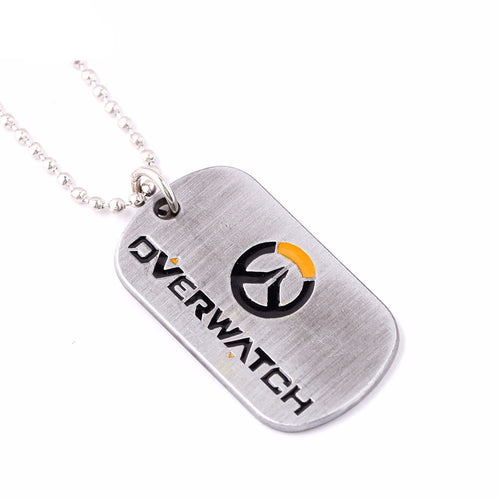 Overwatch Tag for Necklace or Keychain - Superhero Spinners