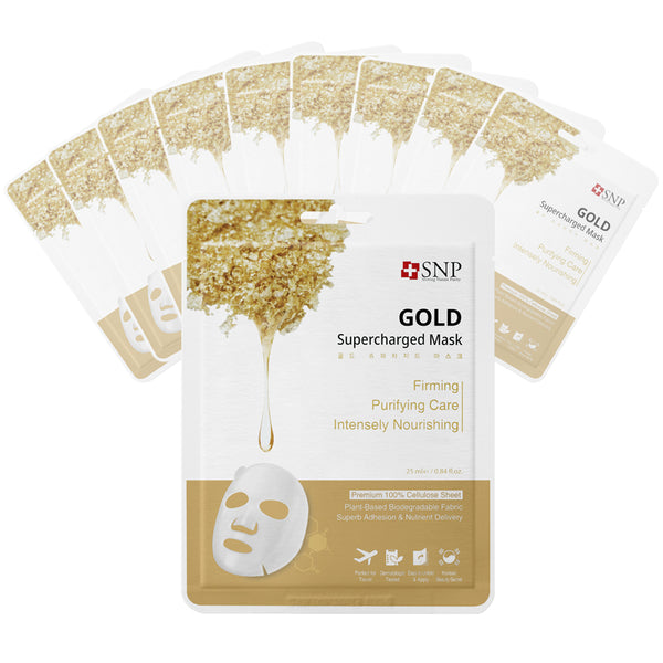 Gold Supercharged Sheet Mask (10 Sheets)