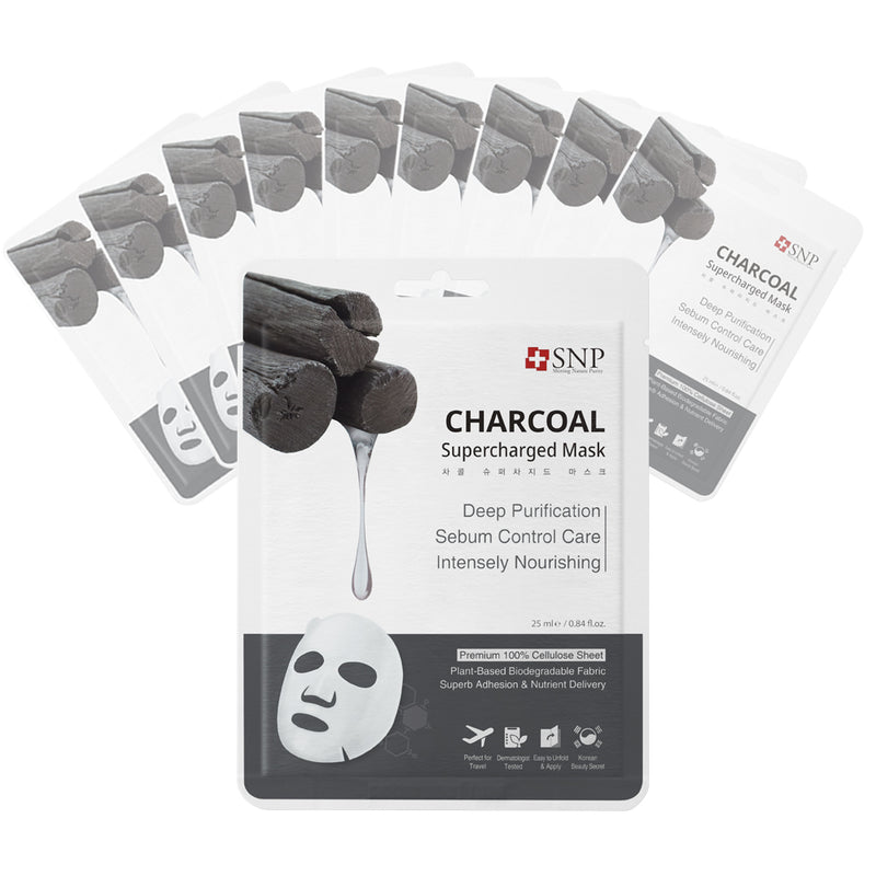 Charcoal Supercharged Sheet Mask (10 Sheets)