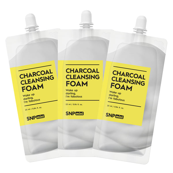 SNP mini - Charcoal Cleansing Foam (25ml per Pack)