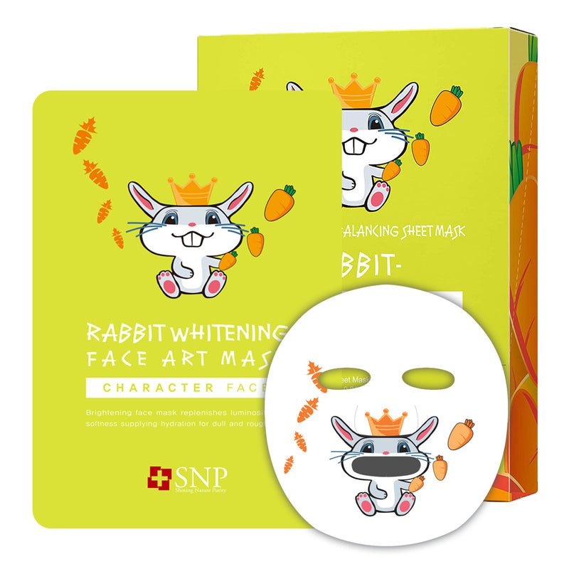 Animal Rabbit Brightening Face Art Sheet Mask (10 Sheets)