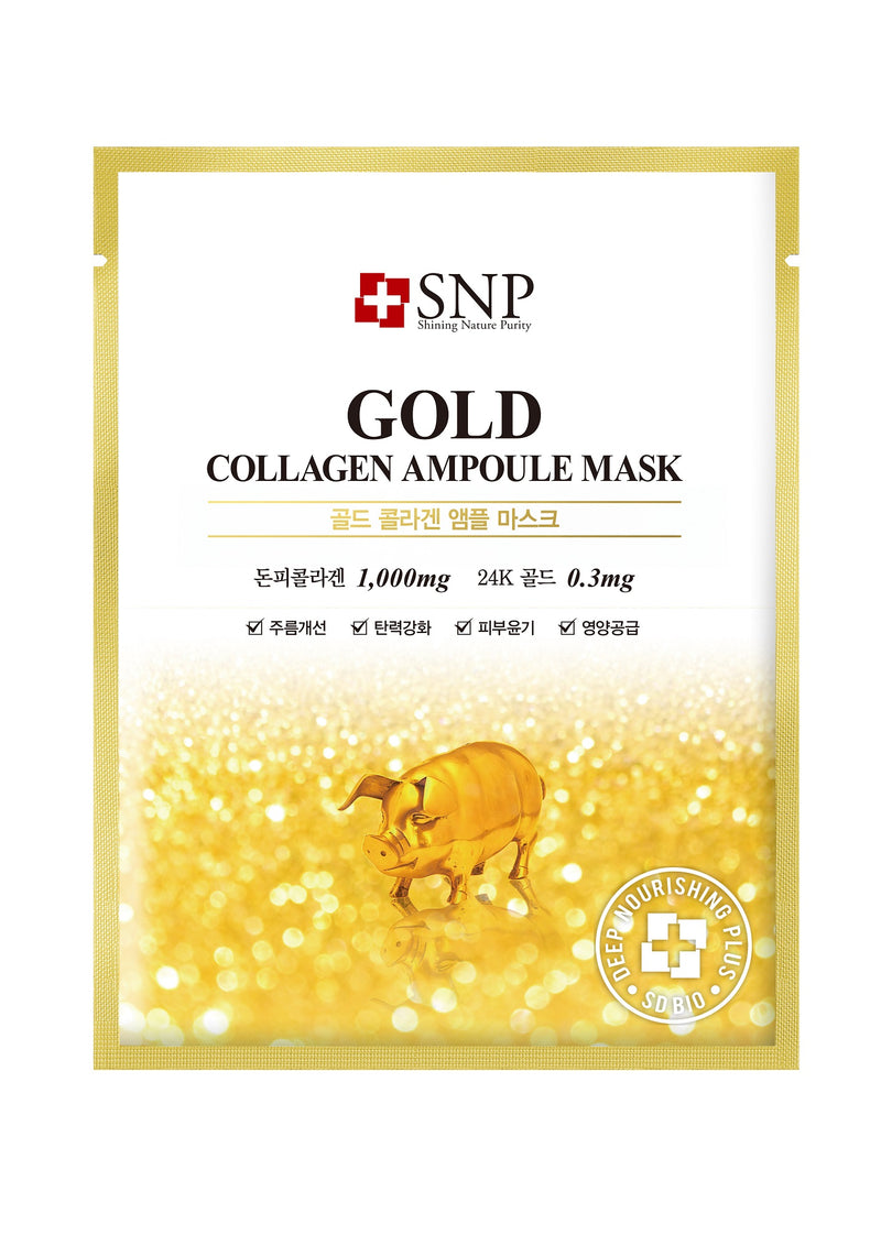 Gold Collagen Ampoule Sheet Mask (11 Sheets Per Box)