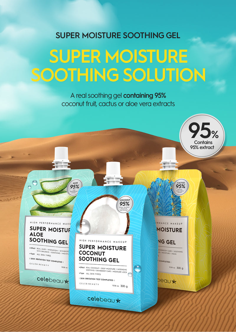 Super Moisture Cactus Soothing Gel - 95% Cactus Extract - 300g