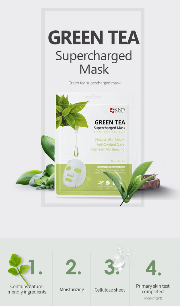 Green Tea Supercharged Sheet Mask (10 Sheets)