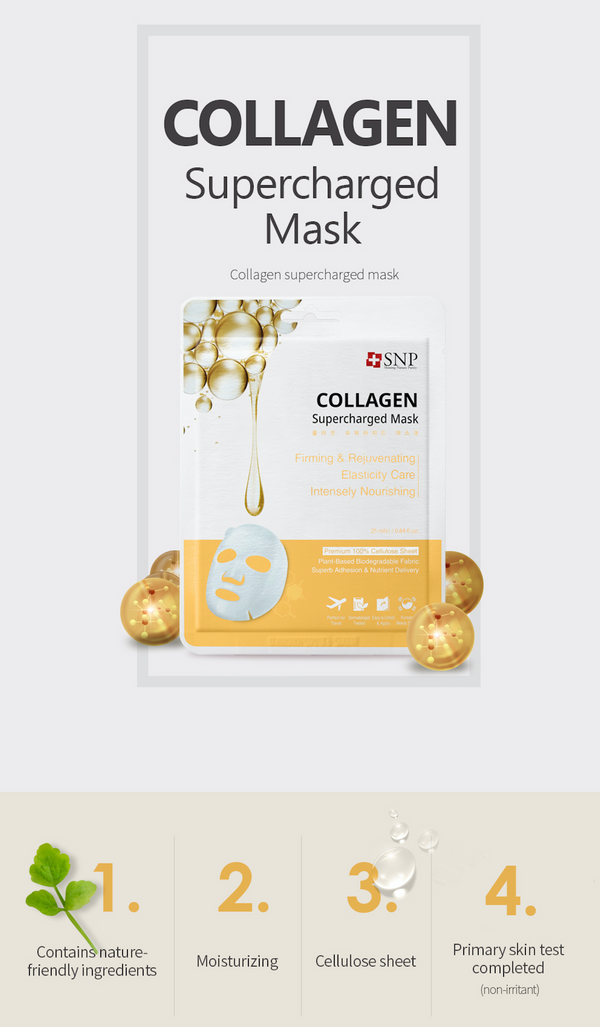 Collagen Supercharged Sheet Mask (10 Sheets)