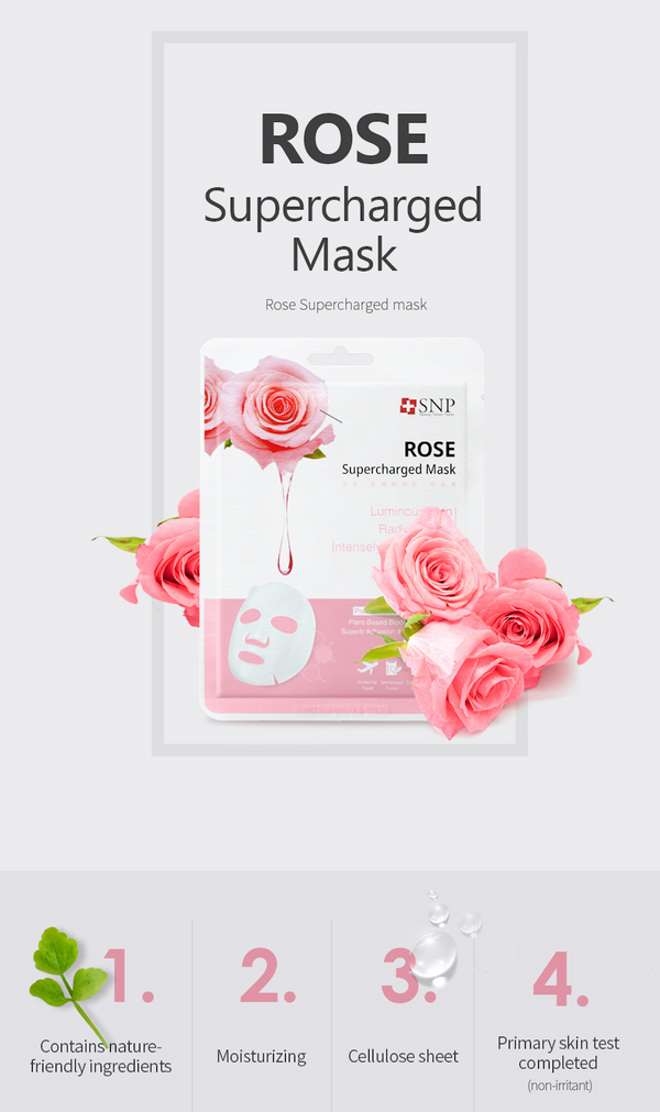 Rose Supercharged Sheet Mask (10 Sheets)