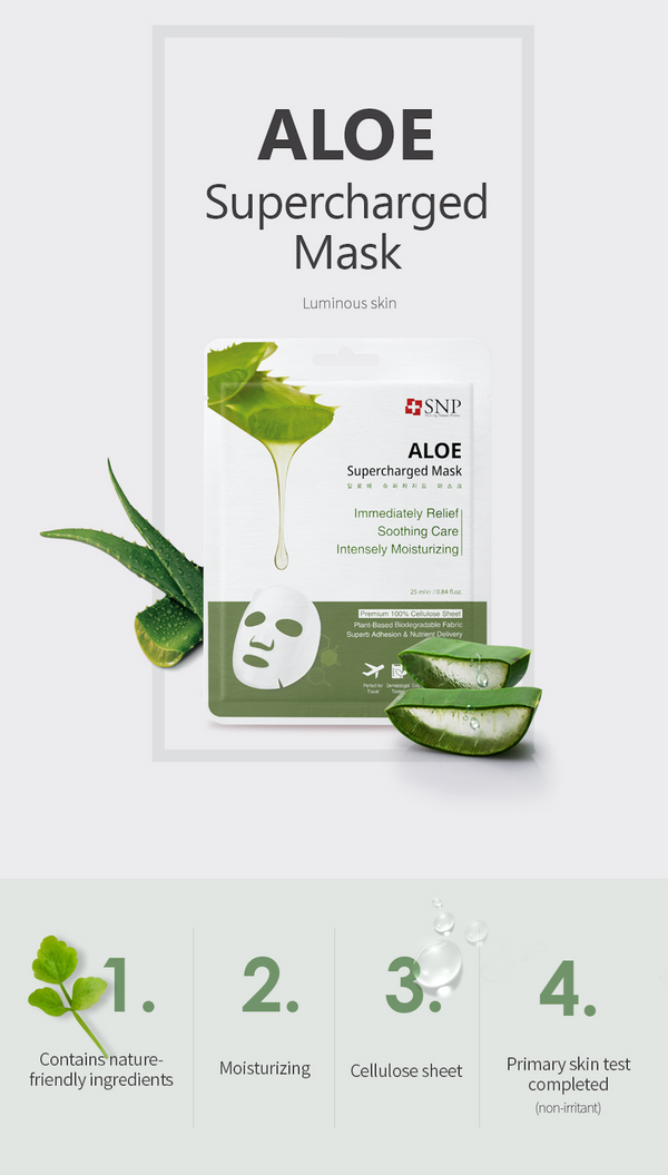Aloe Supercharged Sheet Mask (10 Sheets)