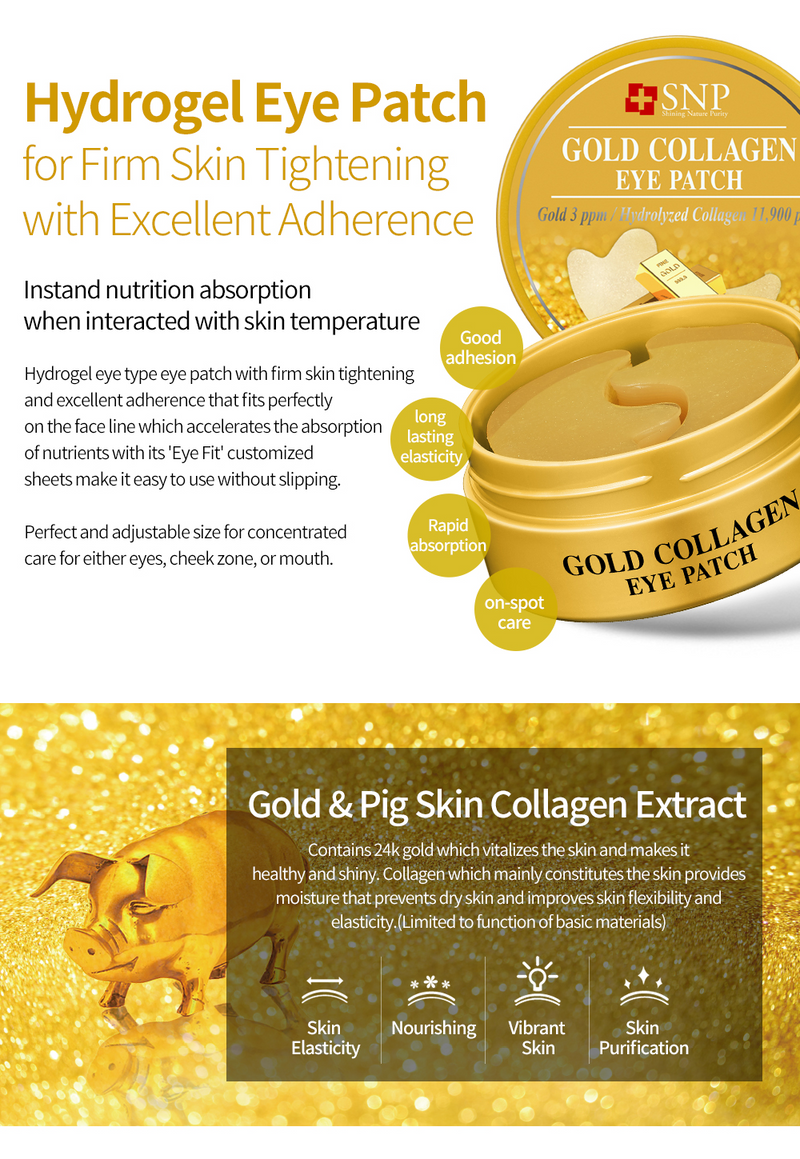 Gold Collagen Firming Eye Patch (60 Patches Per Jar)