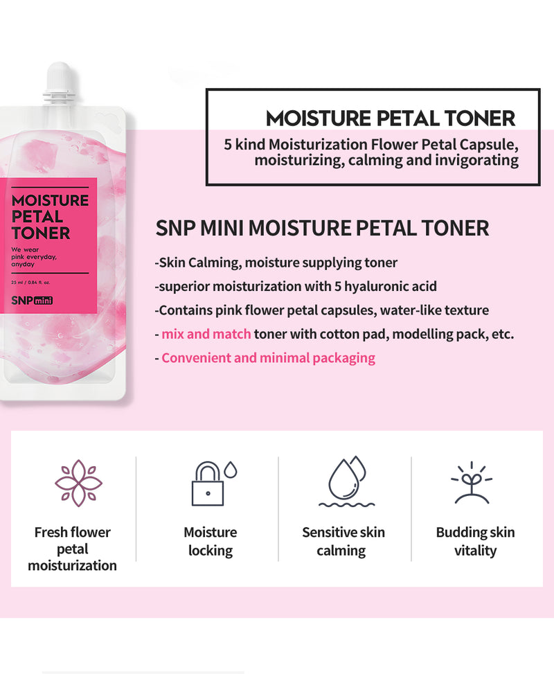 mini - Moisture Petal Toner (25ml per Pack)
