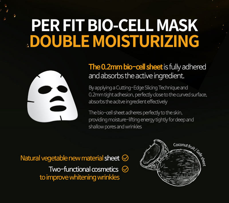 PER F:T BIO-CELL Mask Double Moisturizing (5 Sheets per box)