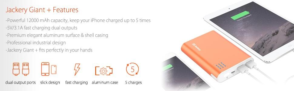 Jackery Giant Portable Power Pack Features and Specifications