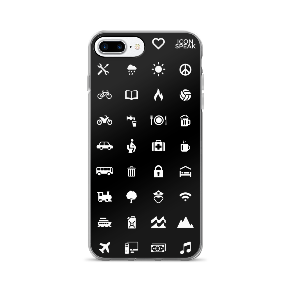 Iconspeak World Edition iPhone Case Black