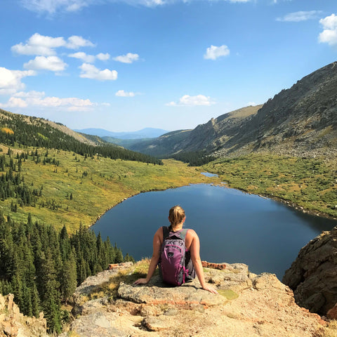 Taking in the views from Chicago Lakes near Mount Evans Wilderness in Colorado