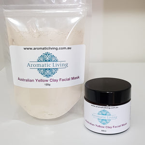 Australian Clay Facial Mask - Yellow - Aura Lowanna