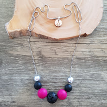 Diffuser Necklace - Lava Round