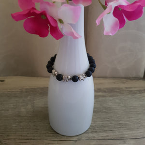 Diffuser Bracelet - Lava Stone with Elephant Charms