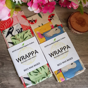 Reusable Organic Wax Wrap - 3 pack - Aura Lowanna