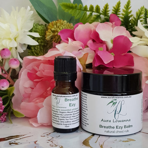 Natural Chest Rub & Oil Blend Duo - Breathe Ezy - Aura Lowanna