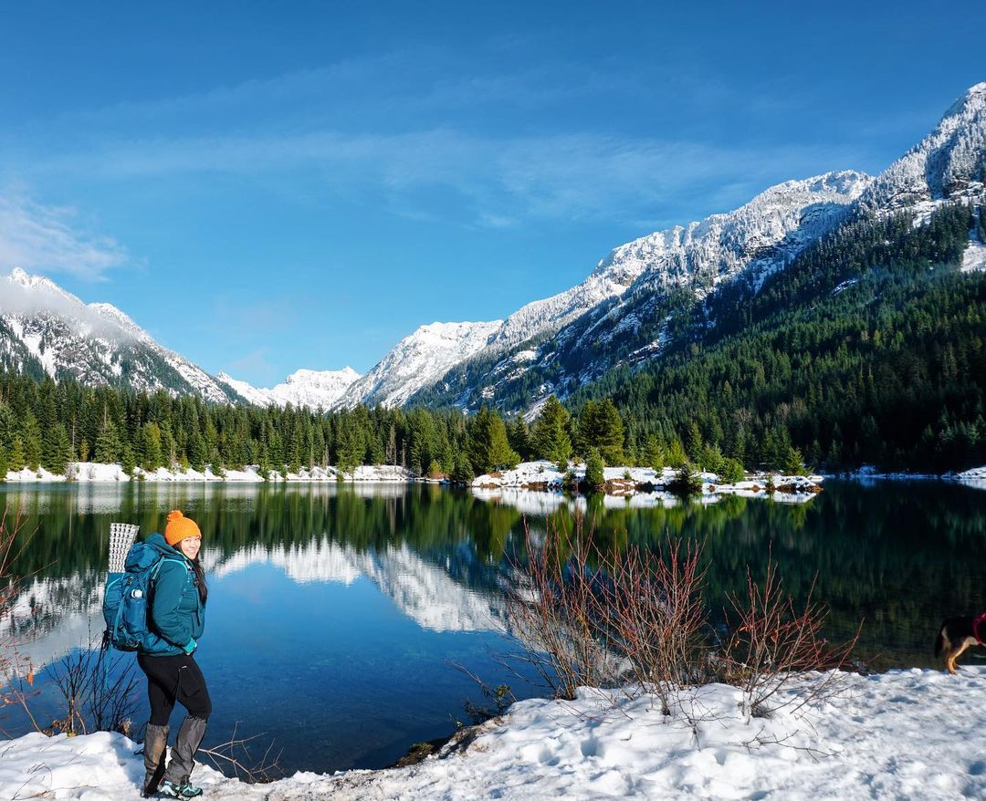 New Year, New Goals - Creating Outdoor New Years Resolutions with the CMT Outbounders - Snow hike lake