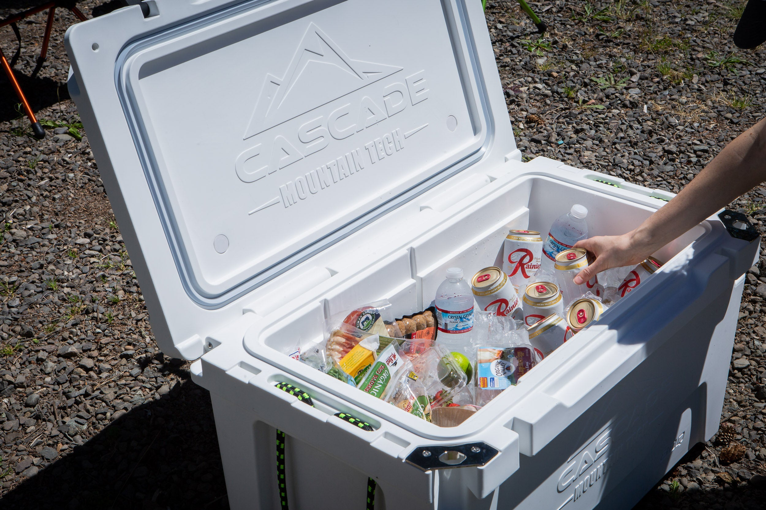 maxing out the storage capacity of your camping cooler